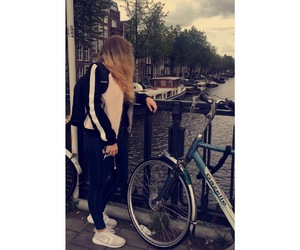 amsterdam, bike, and girl image