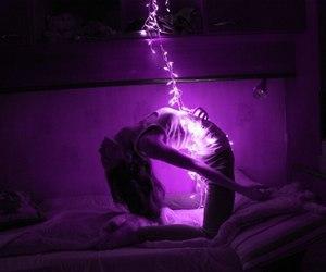 beauty, neon, and purple image