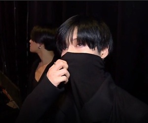 Taemin, black, and dark image
