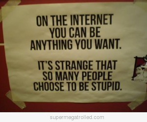 funny, quote, and stupid image
