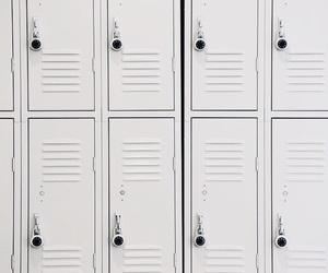 aesthetic, white, and locker image