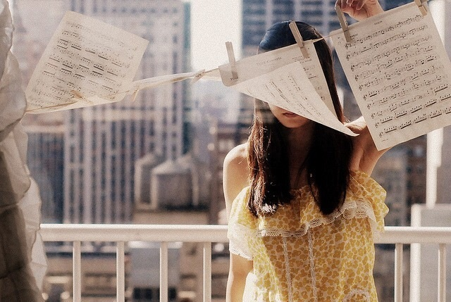 girl, music, and photography image