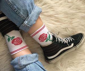 rose, vans, and grunge image
