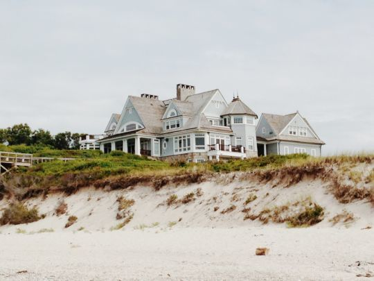 house, beach, and nature image