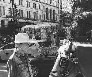 hat, jessica hart, and horse image