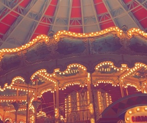carousel, circus, and lights image