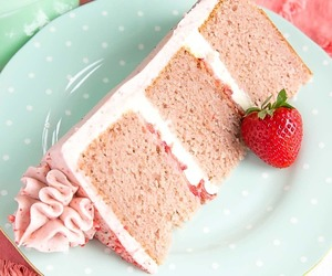buttercream, desserts, and cake image