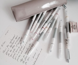 pencil case, retro, and stationary image