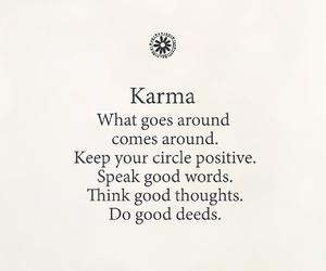 karma, peace, and positive thinking image