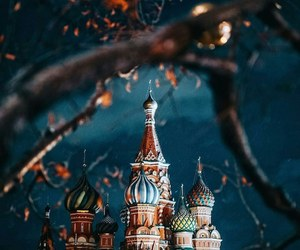 tree, cathedral, and moscow image