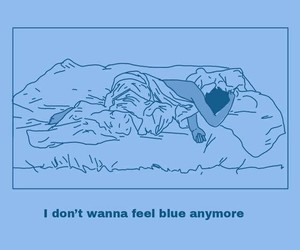 blue, sad, and aesthetic image