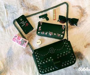bag, fashion, and lipstick image