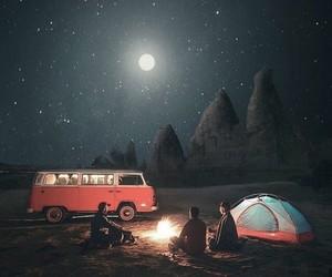 night, travel, and adventure image