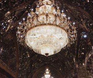 chandelier, luxury, and light image