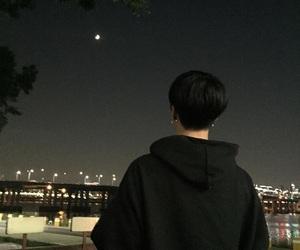 night, boy, and korean image