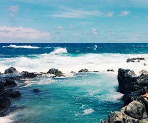 aesthetic, beach, and rocks image