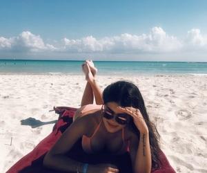 beach, bikini, and colors image
