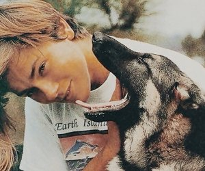 river phoenix, 80s, and dog image