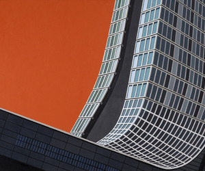 architecture, minimalism, and orange image