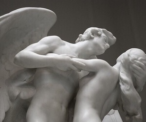 angels, marble, and art image