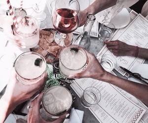 drink, friends, and summer image
