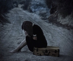 alone, lost, and sad image