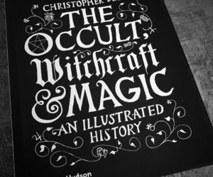 black and white, witchy, and book image