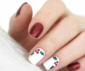 nails, beauty, and christmas image