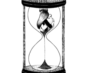 love, time, and couple image