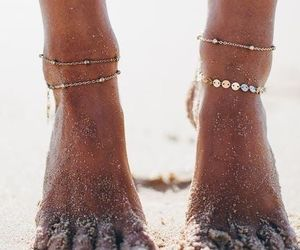 summer, beach, and feet image