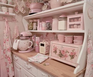 aesthetic, kitchen, and pastel image
