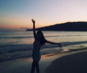 beach, girl, and menina image