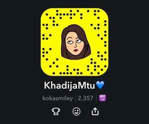 girl, khadija, and snapcode image