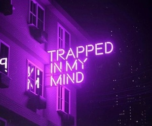 neon, purple, and light image