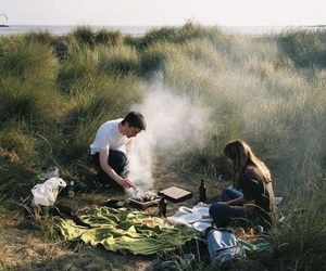couple, picnic, and boy image