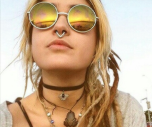 girl, glasses, and hippie image
