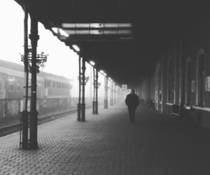 alone, foggy, and one person image