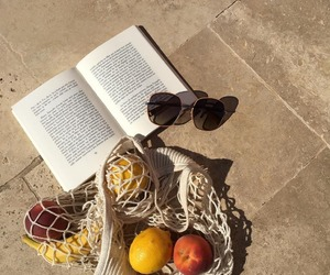 book, summer, and apple image