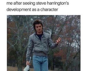 stranger things, steve harrington, and joe keery image