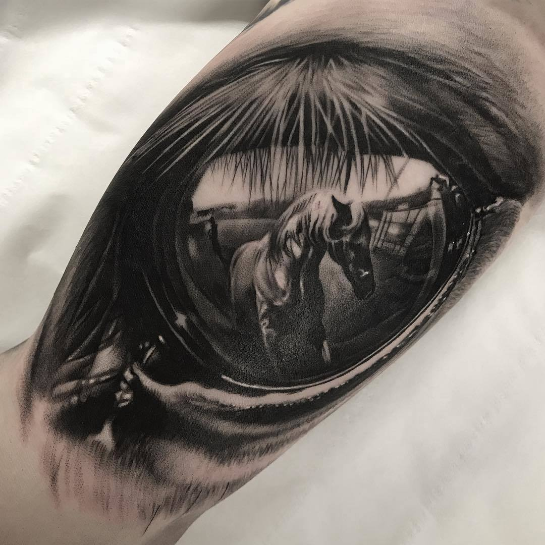 Reflection Tattoo: Horse Eye Reflection Tattoo By Duncan Whitfield