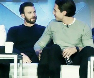 sebastian stan, chris evans, and Marvel image