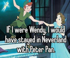 dreams, girls, and peter pan image
