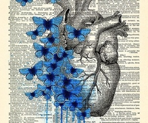blue, heart, and book image