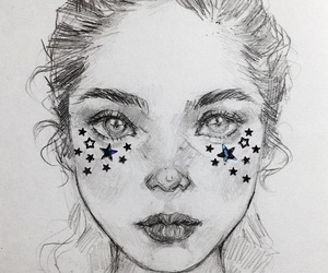 art, sparkles, and drawing image