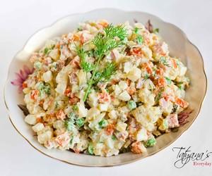 food, salad, and russia image