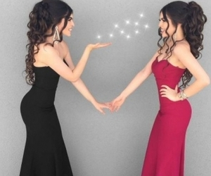 dress, clothes, and twins image