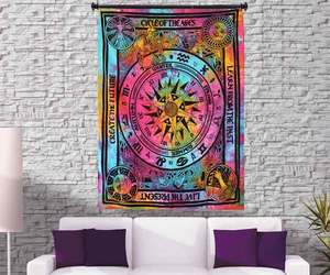 home decor items, wall hanging tapestry, and mandala tapestry image