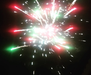 fireworks, green, and red image