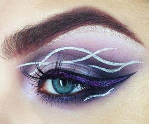 eyeshadow, girl, and purple image