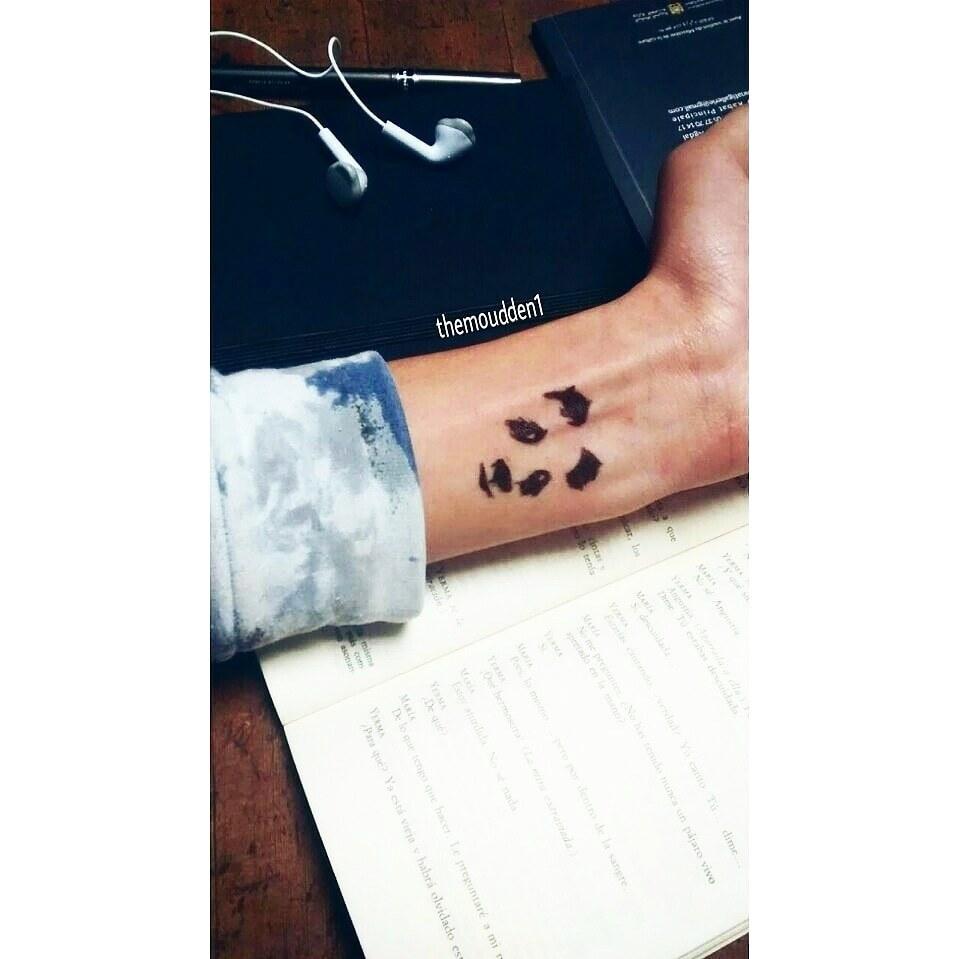 art, panda, and tattoo image